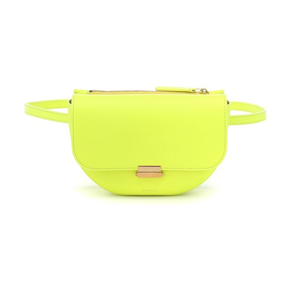 WANDLER anna buckle leather belt bag in yellow - Sleek lines and fine craftsmanship define Wandler's...