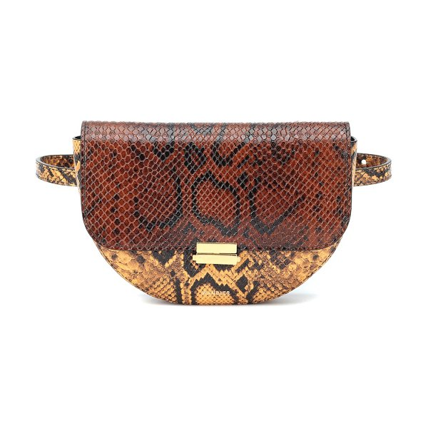 WANDLER anna buckle leather belt bag in brown - A key trend this season, mock-croc receives a must-have...