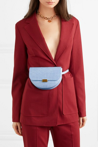 WANDLER anna croc-effect leather belt bag in sky blue - For Spring '19, Elza Wandler takes inspiration from...