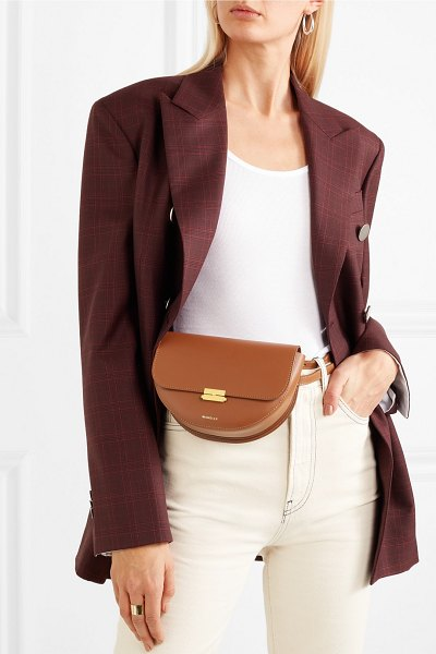 WANDLER anna leather belt bag in tan