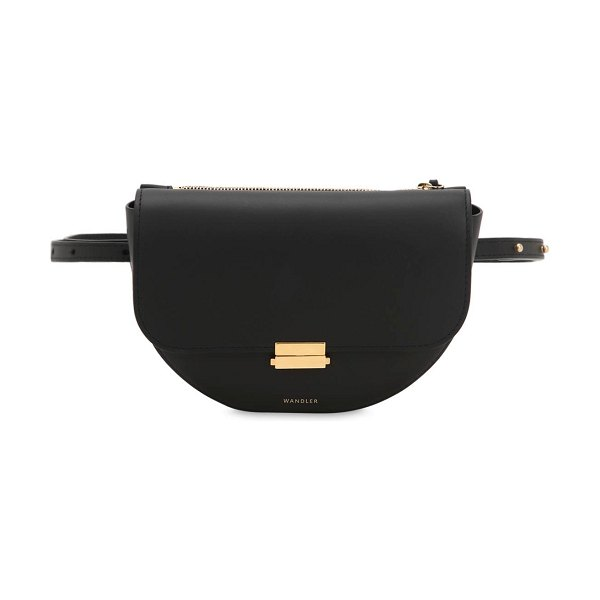 WANDLER Anna leather belt bag in black - Height: 15cm Width: 18cm Depth: 7cm. Adjustable belt...