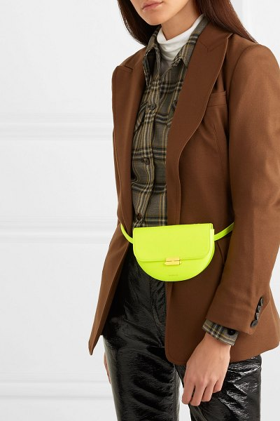 WANDLER anna small neon leather belt bag in bright yellow - EXCLUSIVE AT NET-A-PORTER.COM. Elza Wandler is already...