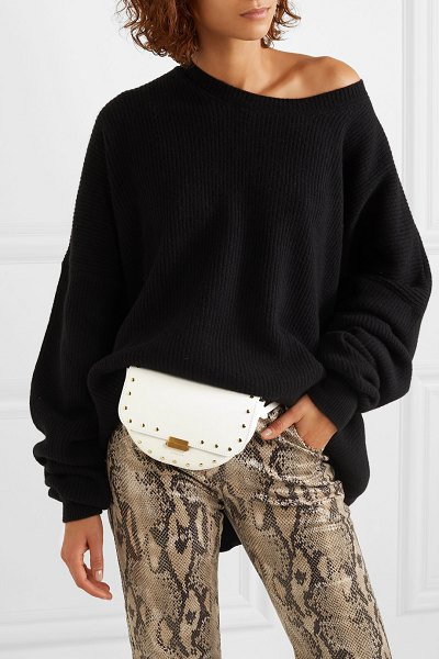 WANDLER anna studded leather belt bag in white - Before launching her label, Elza Wandler made sure she...