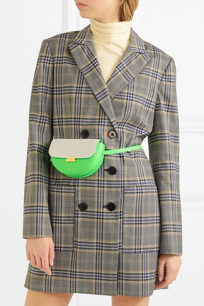 WANDLER anna small two-tone neon leather belt bag in bright green - EXCLUSIVE AT NET-A-PORTER.COM. Elza Wandler likes to...
