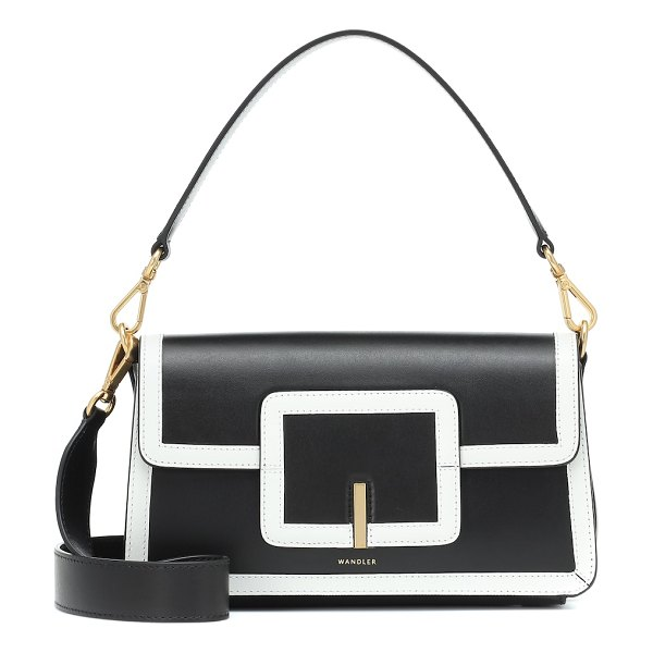 WANDLER exclusive to mytheresa – georgia leather shoulder bag in black