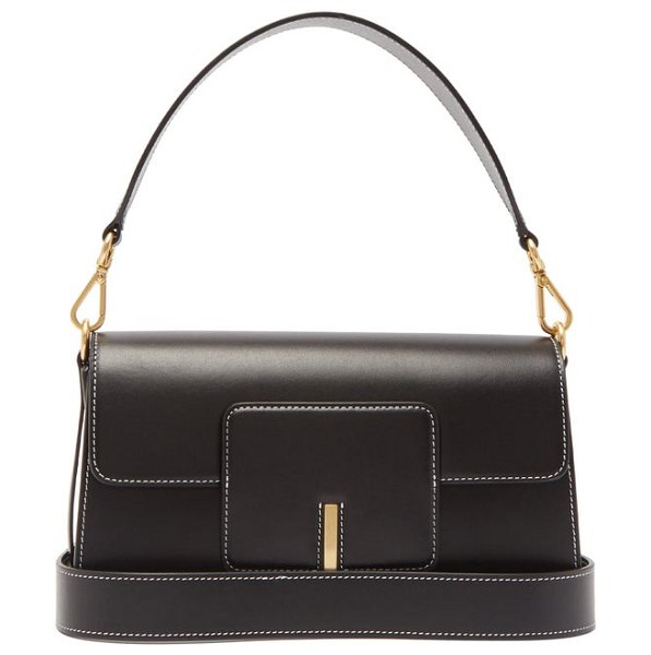 WANDLER georgia leather shoulder bag in black