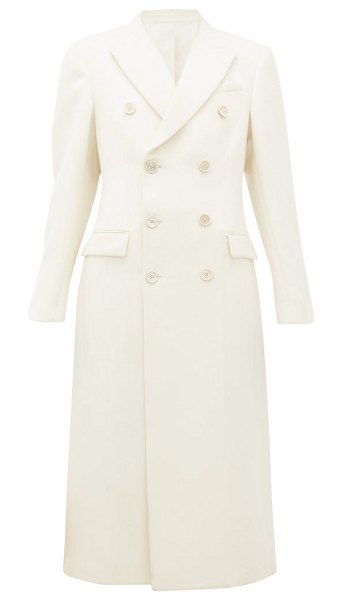 WARDROBE.NYC wardrobe. nyc - release 05 double-breasted merino-wool coat in white