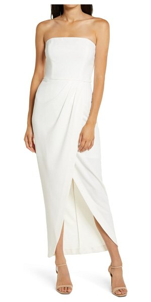 Wayf the angelique strapless tulip gown in ivory