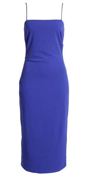Wayf the bea ruched cami midi dress in ultra violet
