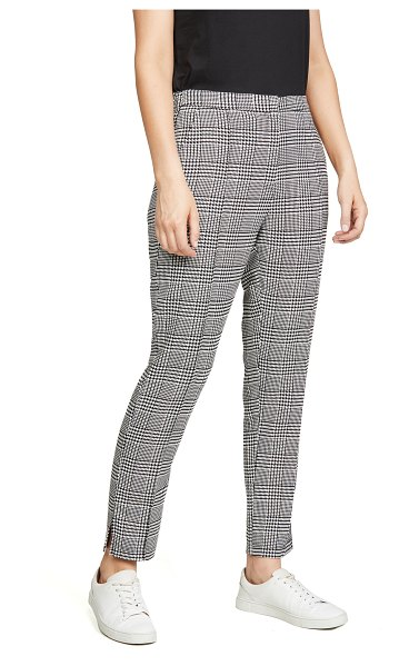 Wayf victor slim leg pants in houndstooth