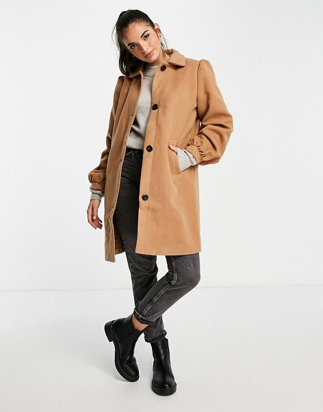 Wednesday's Girl tailored coat-neutral in neutral