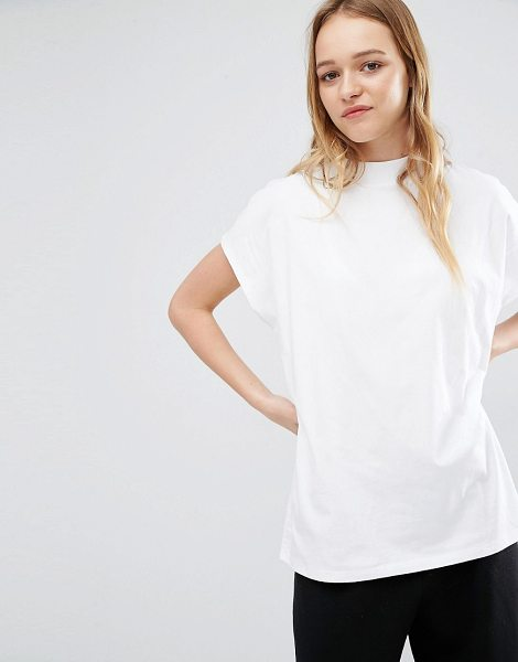 Weekday prime t-shirt in white in white