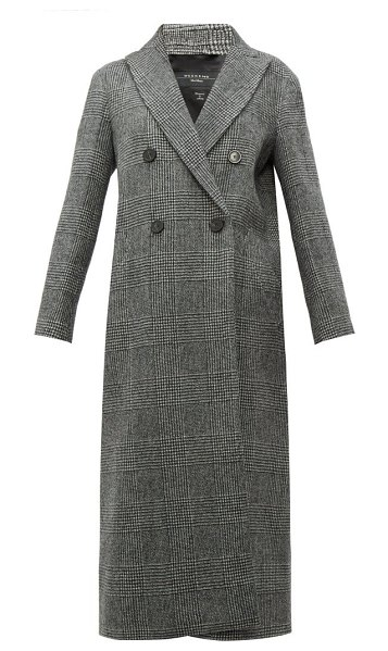 Weekend Max Mara porfido coat in black white