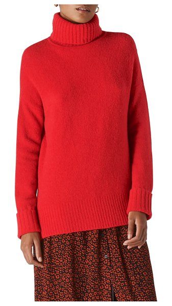 Whistles oversize turtleneck sweater in red