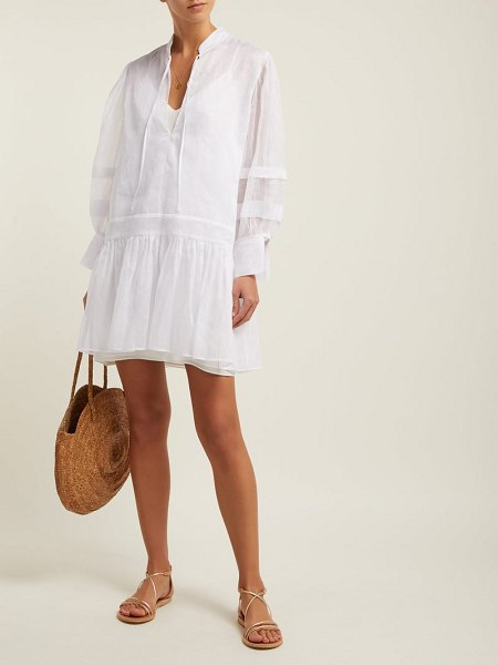 White Story willow cotton organza dress in white - White Story - This chic white Willow dress is in tune...