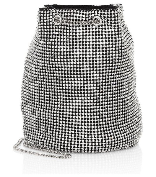 Whiting & Davis crystal bucket bag in silver