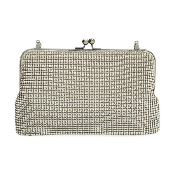 Whiting & Davis mesh clutch in pewter
