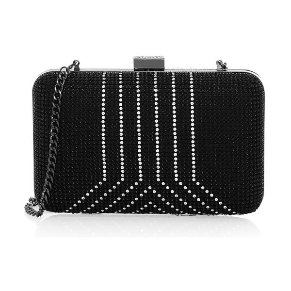 Whiting & Davis yves crystal minaudière in black