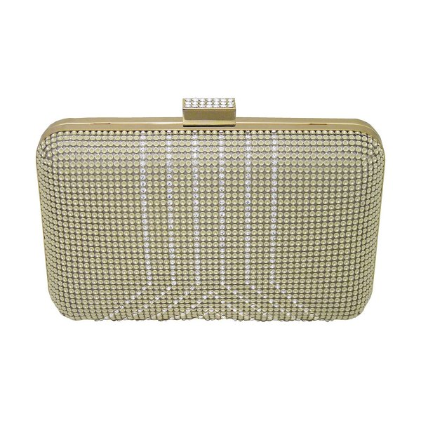 Whiting & Davis yves mesh minaudiere in gold