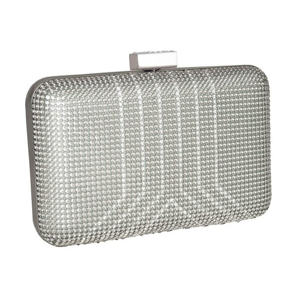 Whiting & Davis yves mesh minaudiere in silver