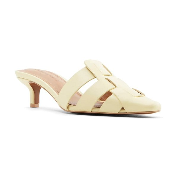 WHO WHAT WEAR petra mule in french vanilla nappa leather