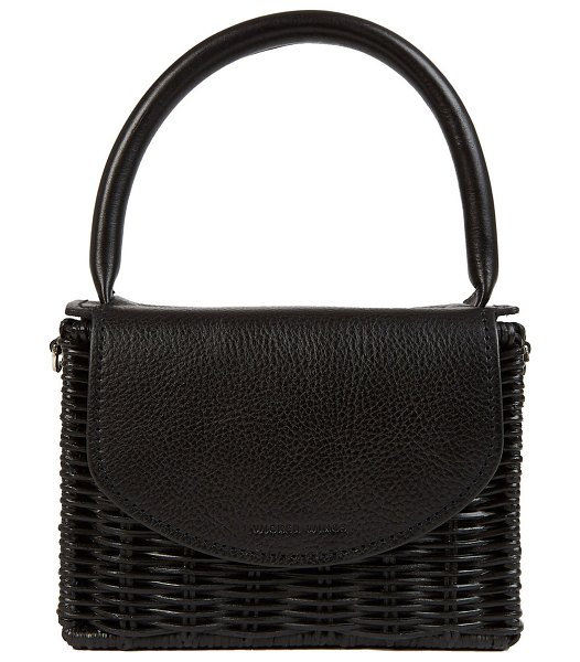 Wicker Wings black babing top handle bag in black