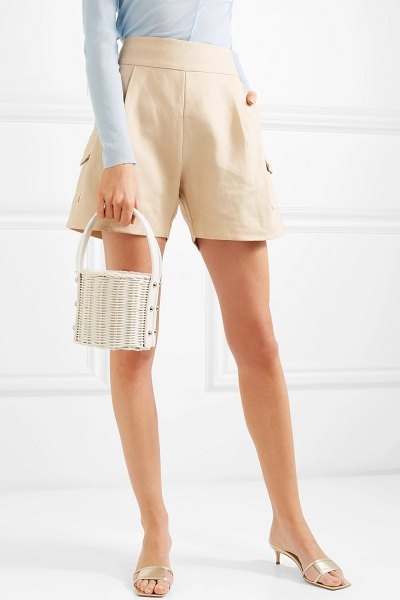 Wicker Wings quan rattan and leather bucket bag in white - EXCLUSIVE AT NET-A-PORTER.COM. Wicker Wings' bags have...