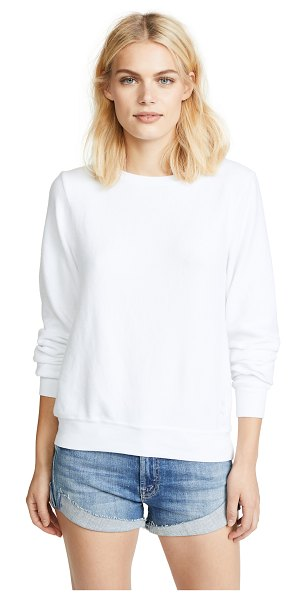 Wildfox basic pullover in clean white