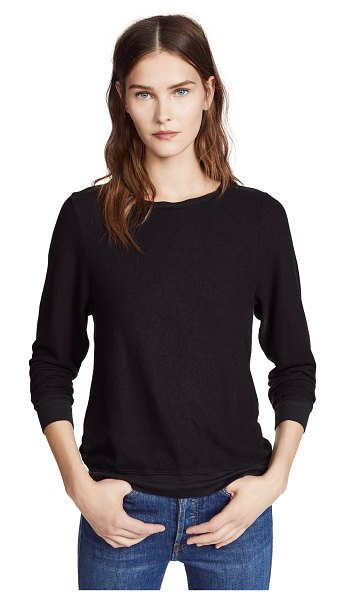 Wildfox basic pullover in jet black
