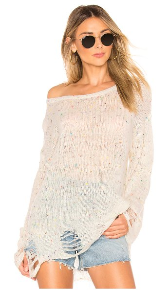 Wildfox lennon confetti sweater in confetti - Wildfox Couture Lennon Confetti Sweater in Cream. - size...