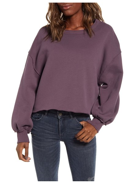 Wildfox olivia fleece sweatshirt in plum