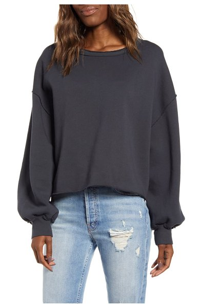 Wildfox olivia fleece sweatshirt in night