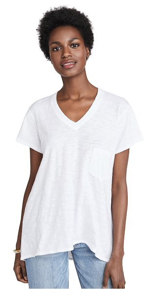 Wilt vintage slouchy v neck tee in white