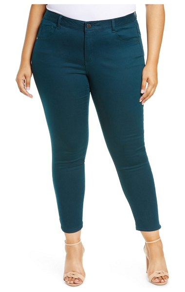 Wit & Wisdom ab-solution high waist ankle skinny pants in dark teal