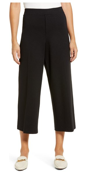 Wit & Wisdom high waist crop wide leg pants in black