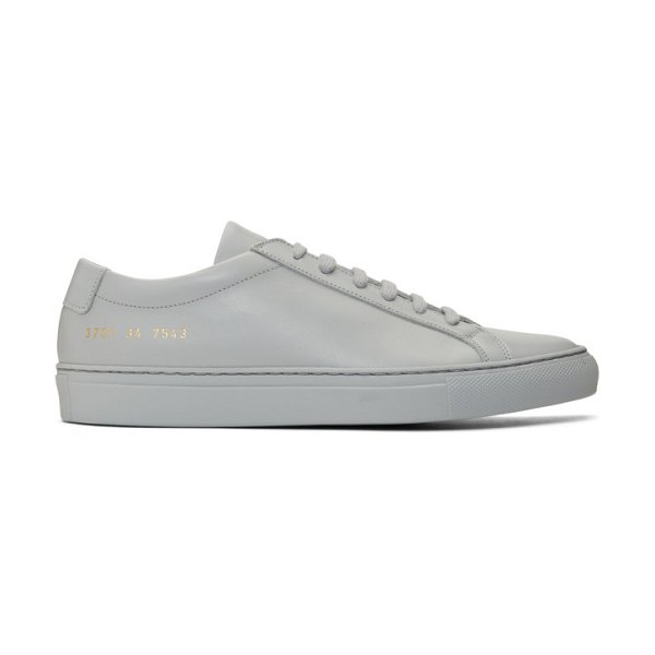 Common Projects grey original achilles low sneakers in 7543 grey
