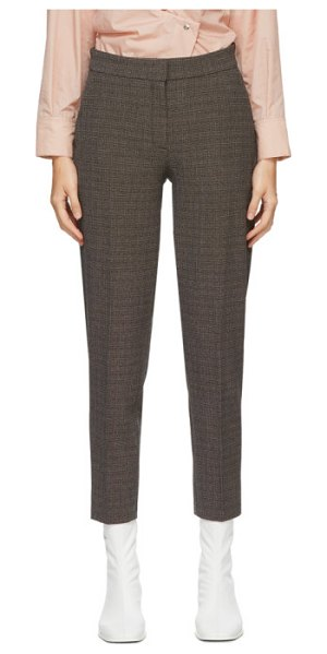 Won Hundred brown check elissa trousers in brown melan