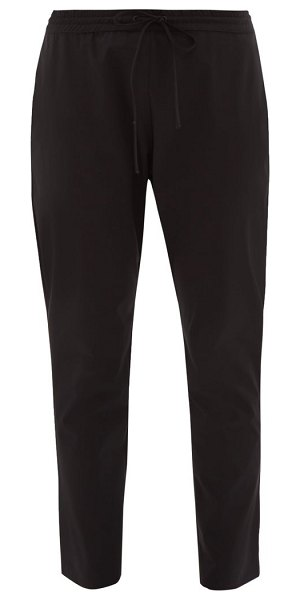 WONE drawstring technical track pants in black