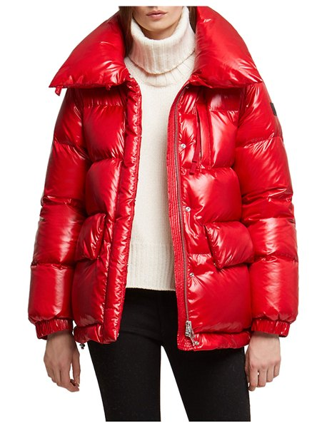 Woolrich Alquippa Channel-Quilt Puffy Jacket in red