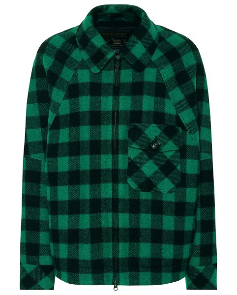 Woolrich exclusive to mytheresa – checked wool-blend jacket in green
