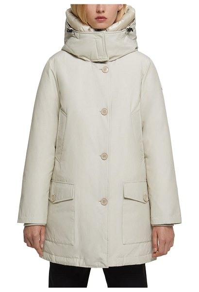 Woolrich water repellent down parka in white igloo