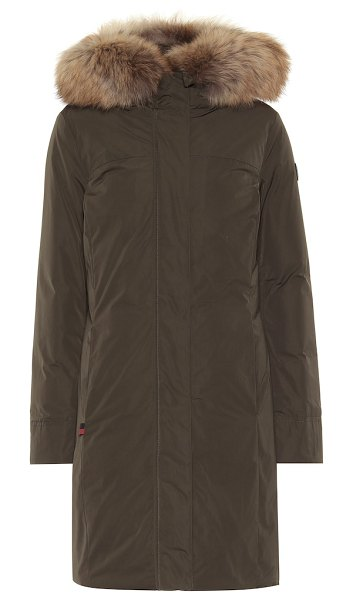 Woolrich w's luxury boulder down coat in green