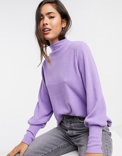 Y.A.S knitted sweater with batwing sleeves in lilac-purple in purple
