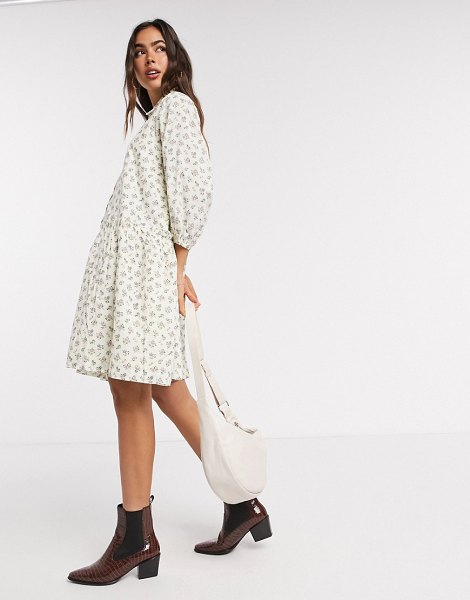 Y.A.S smock shirt dress in ditsy floral print-multi in multi