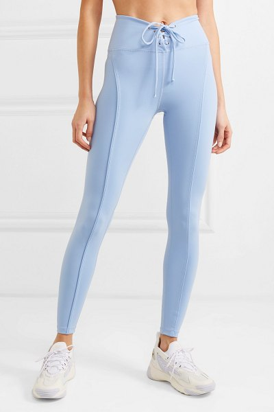YEAR OF OURS football lace-up stretch leggings in light blue - The beauty of Year of Ours' workout gear is that it...