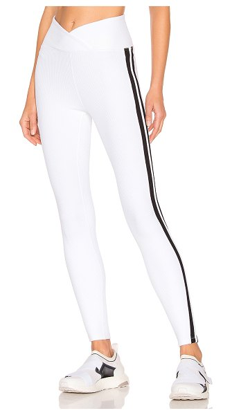YEAR OF OURS Thermal Racer Legging in white - 85% nylon 15% spandex. Thermal textured fabric. Stretch...