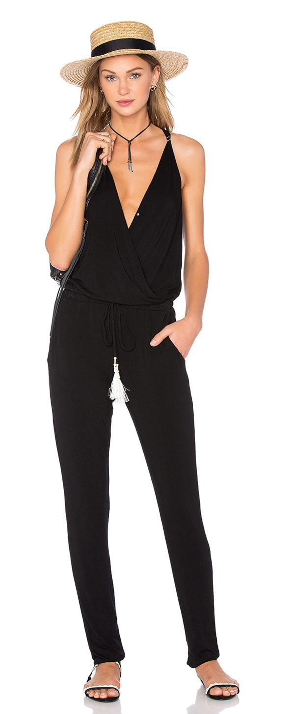 Young Fabulous Broke Chrissy Jumpsuit In Black Shopstasy