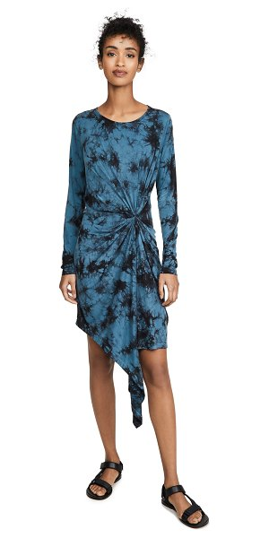 Young Fabulous & Broke maisie dress in electric blue burst wash