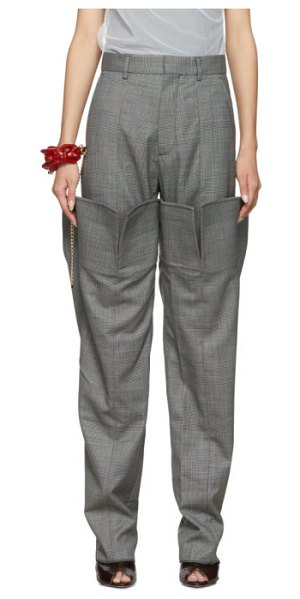 Y/PROJECT double leg trousers in grey check