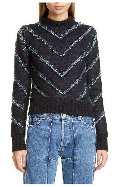 Y/PROJECT slashed sweater in black